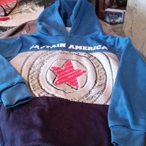 Marvel Avengers Captain America Kids Hoodie